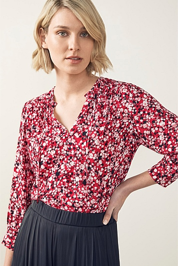 Mini Ditsy Floral Blouse