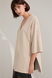 Double Knit Wool Blend Tunic