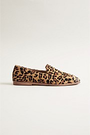 Leopard Print Leather Loafer