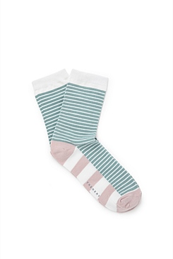 Spliced Stripe Socks