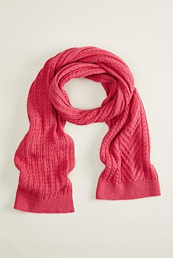 Sia Cable Knit Merino Cotton Scarf