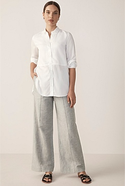 Modal Seamed Front Shirt