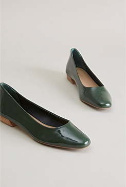 Willa Leather Flat