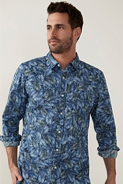 Tonal Palm Print Shirt