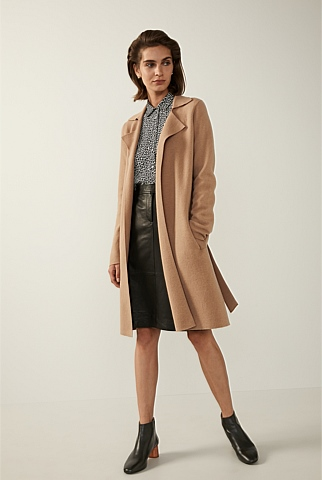 Double Knit Merino Wool Coat