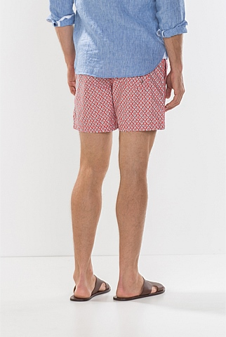 Japanese Stamp Print Swim Short