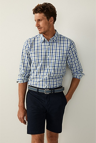 End On End Cotton Gingham Shirt