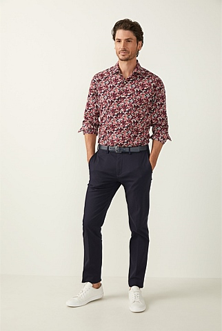 Multi Floral Print Cotton Shirt