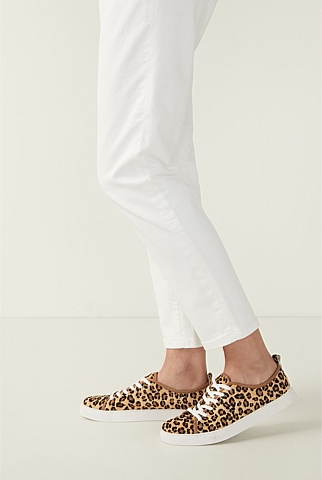 Gayle Leopard Print Leather Sneaker