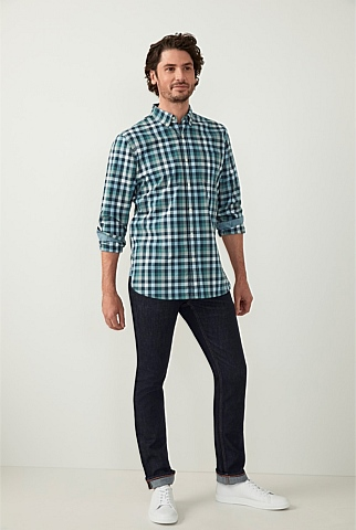 Graphic Check Cotton Shirt