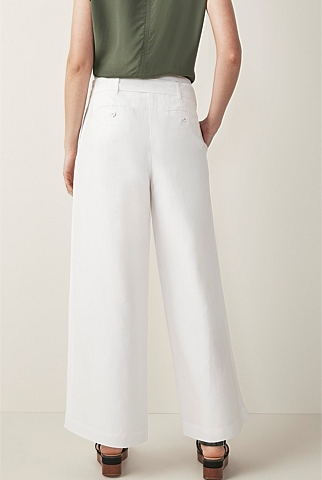 Cupro Belted Wide Leg Pant