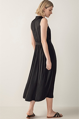 Sleeveless Maxi Shirt Dress